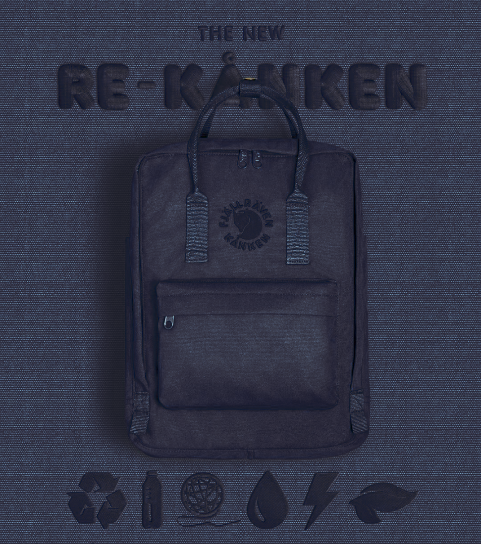 Рюкзак Fjallraven Re-Kanken Midnight Blue (558)