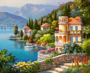 Картина по номерам Озеро Комо E521
