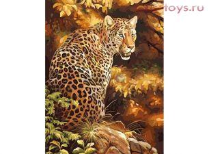 Картина по номерам Грозный леопард 8014