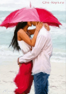 Картина по номерам Пара под зонтом R-0387