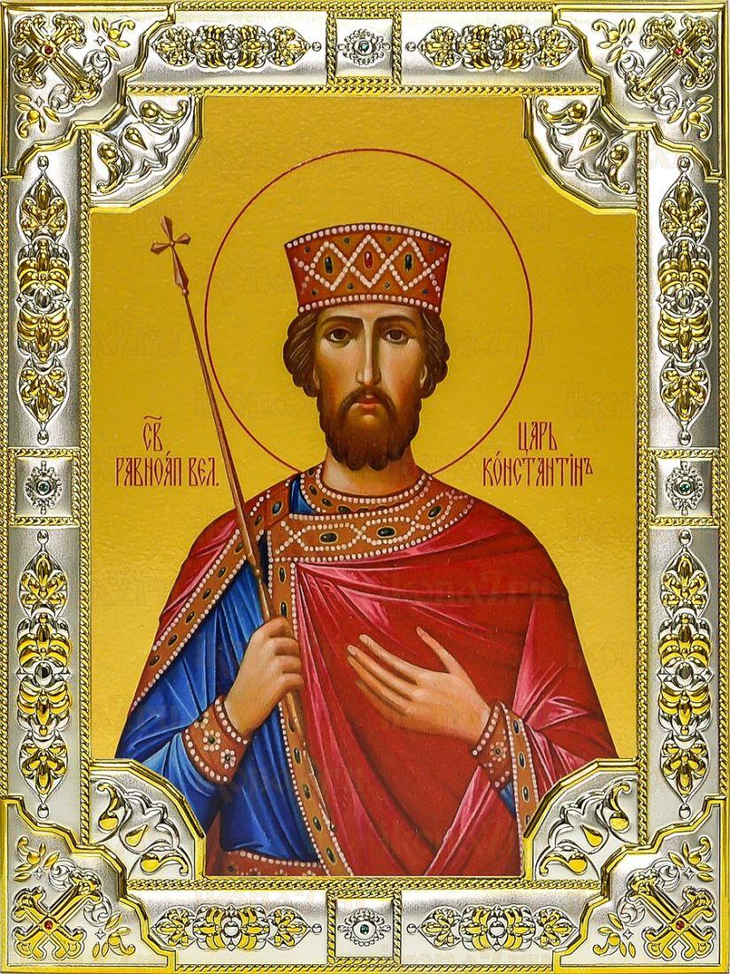 Константин Великий (18х24), серебро