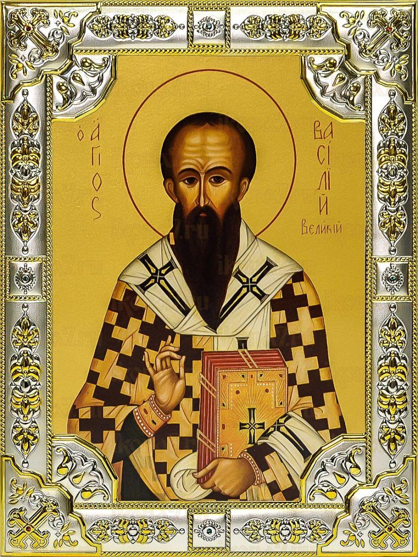 Василий Великий (18х24), серебро