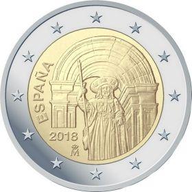 Исторический центр Сантьяго-де-Компостела 2 евро Испания 2018