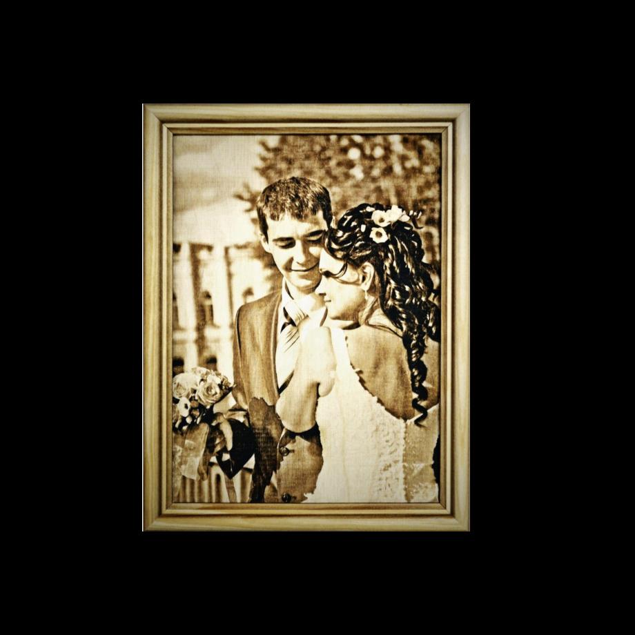 Фото (портрет) на дереве А5 (15х20 см) по вашему фото