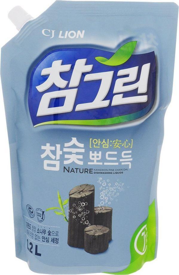 Cj Lion Средство для мытья посуды Chamgreen Древесный уголь, 1,2 л