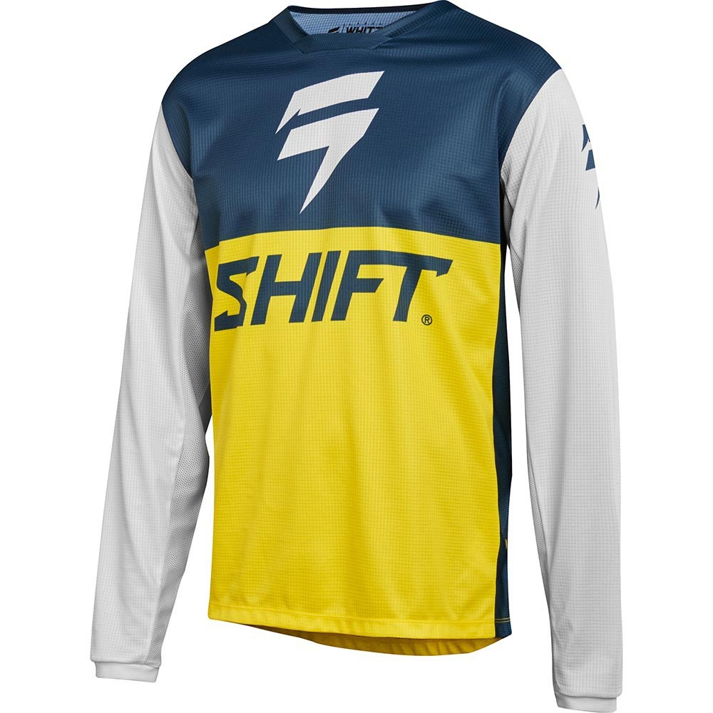Shift - 2018 Whit3 Label GP Limited Edition Navy/Yellow джерси, сине-желтое