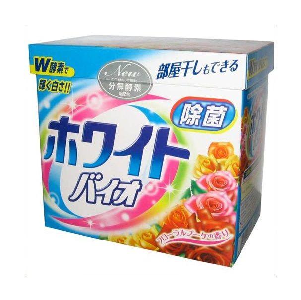 Стиральный порошок с кондиционером White Bio Plus Antibacterial c цветочным ароматом 900г