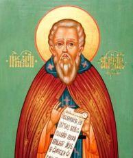 Икона Александр Свирский (рукописная)