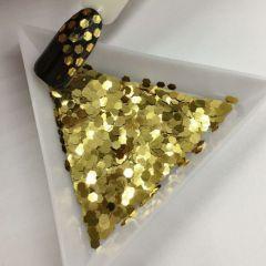 """Конфетти шестигранник 1/12""""(2.0mm)080 B0210(Lt. Gold)"""