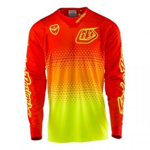 Troy Lee Designs SE JERSEY STARBURST FLO YELLOW / ORANGE