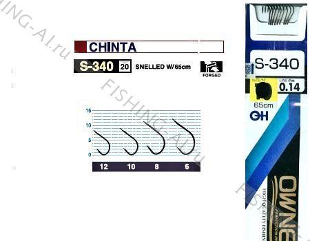 Крючок OWNER S-340 №  8 с поводком