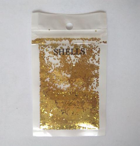 """Конфетти шестигранник 1/24""""(1.0mm)040 B0203(Lemon Gold)"""