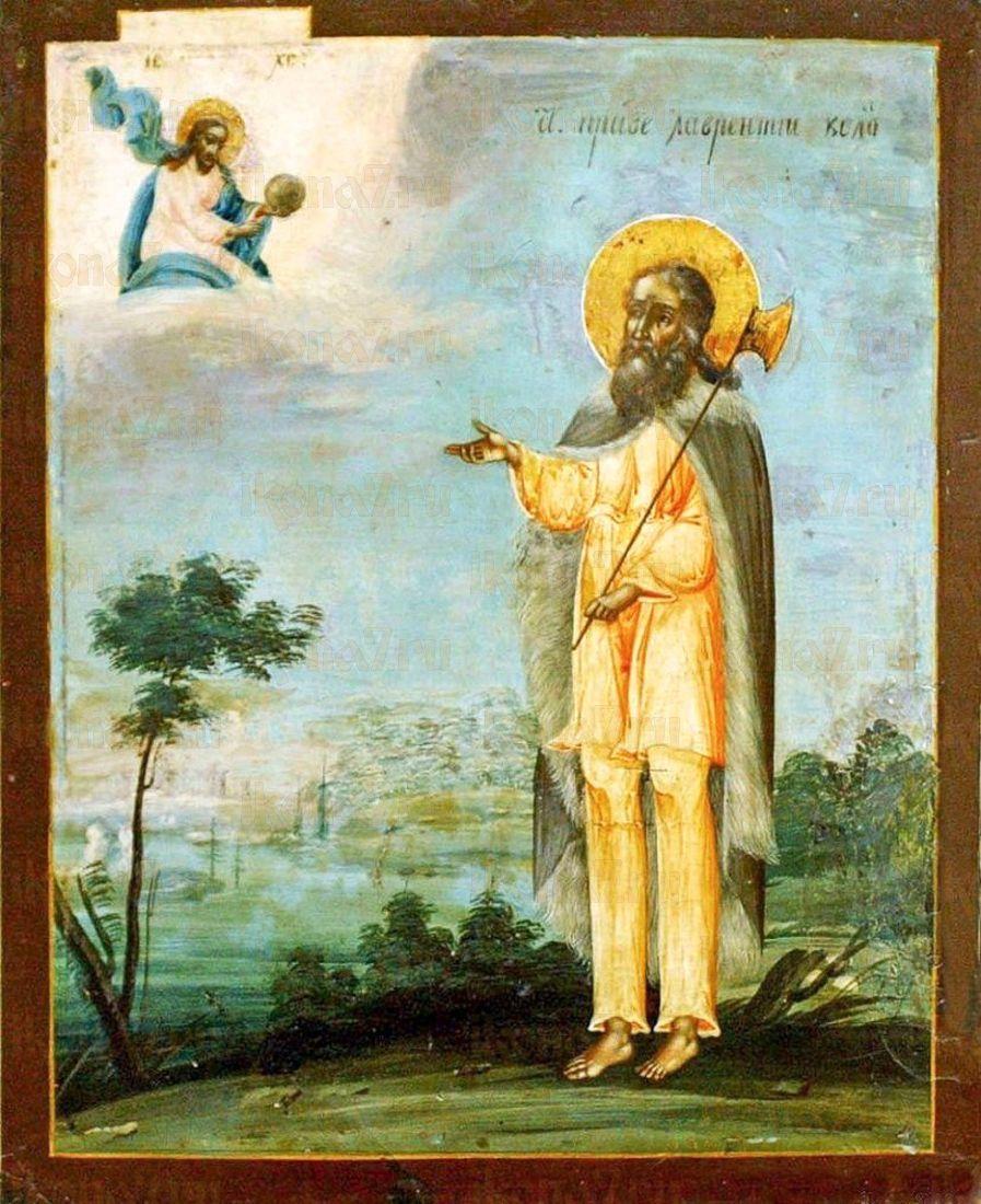 Лаврентий Калужский (копия старинной иконы)