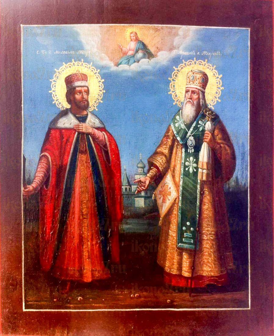 Икона Михаил и Арсений Тверские (копия старинной)