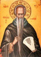 Икона Евфимий Великий (копия старинной)