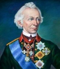 Александр Суворов (портрет на дереве)