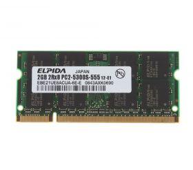 Модуль памяти Elpida DDR2 2GB SO-DIMM PC2-5300S EBE21UE8ACUA-6E-E