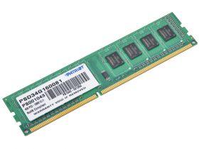 Модуль памяти Patriot Signature 4GB DDR3 PC3-12800 PSD34G160081