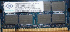 Модуль памяти Nanya DDR2 2Gb 2Rx8 PC2-6400S-666-13-F1.800 SO-DIMM