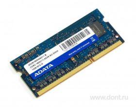 Модуль памяти Adata DDR3 1600 SO-DIMM 4Gb AD3S1600W4G11-B