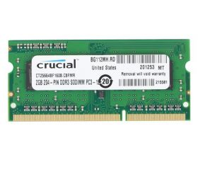 Модуль памяти Crucial DDR3L SO-DIMM 1600MHz - 2Gb CT25664BF160B