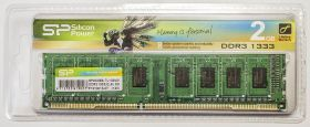 Модуль памяти Silicon Power DDR3 DIMM 2GB PC3-10600 1333MHz SP002GBLTU133V01