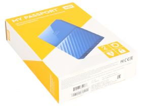 "Внешний жесткий диск  HDD 2.5"" USB 3.0 2TB Western Digital WDBUAX0020BBL My Passport Blue"