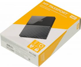 "Внешний жесткий диск  HDD 2.5"" USB 3.0 2TB Western Digital WDBUAX0020BBK My Passport Black"