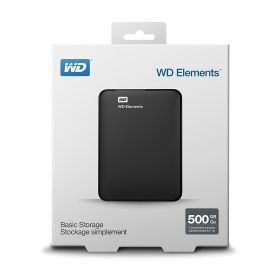 "Внешний жесткий диск 2.5"" USB3.0 500 Gb Western Digital  Elements Portable WDBUZG5000ABK-EESN"