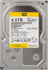 "Жесткий диск HDD 3.5"" 4Tb Western Digital WD4002FYYZ Gold"