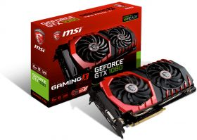 Видеокарта MSI GeForce GTX 1080 1708Mhz PCI-E 3.0 8192Mb  256 bit GTX 1080 GAMING X 8G