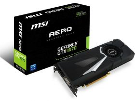 Видеокарта MSI GeForce GTX 1070 1531Mhz PCI-E 3.0 8192Mb  256 bit Aero 8G OC