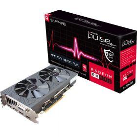 Видеокарта Sapphire Pulse Radeon RX 580  PCI-E 3.0 1366Mhz 8192Mb  256 bit 11265-05-20G