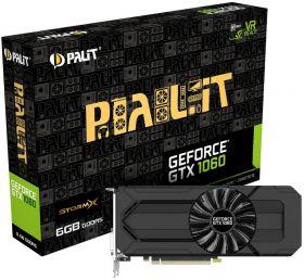 Видеокарта Palit GeForce GTX 1060 1506Mhz PCI-E 3.0 6144Mb 192 bit StormX NE51060015J9-1061F