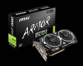 Видеокарта MSI GeForce GTX 1070 1556Mhz PCI-E 3.0 8192Mb   Armor 8G OC