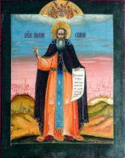 Икона Александр Свирский (копия 18 века)