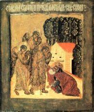 Икона Александр Свирский (копия старинной)