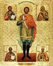 Икона Александр Невский (копия старинной)
