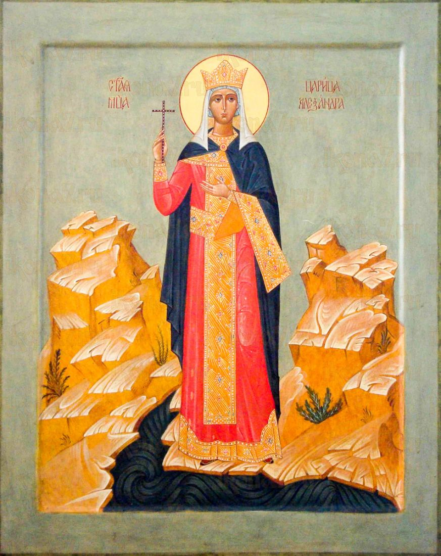 Александра Римская (икона на дереве)