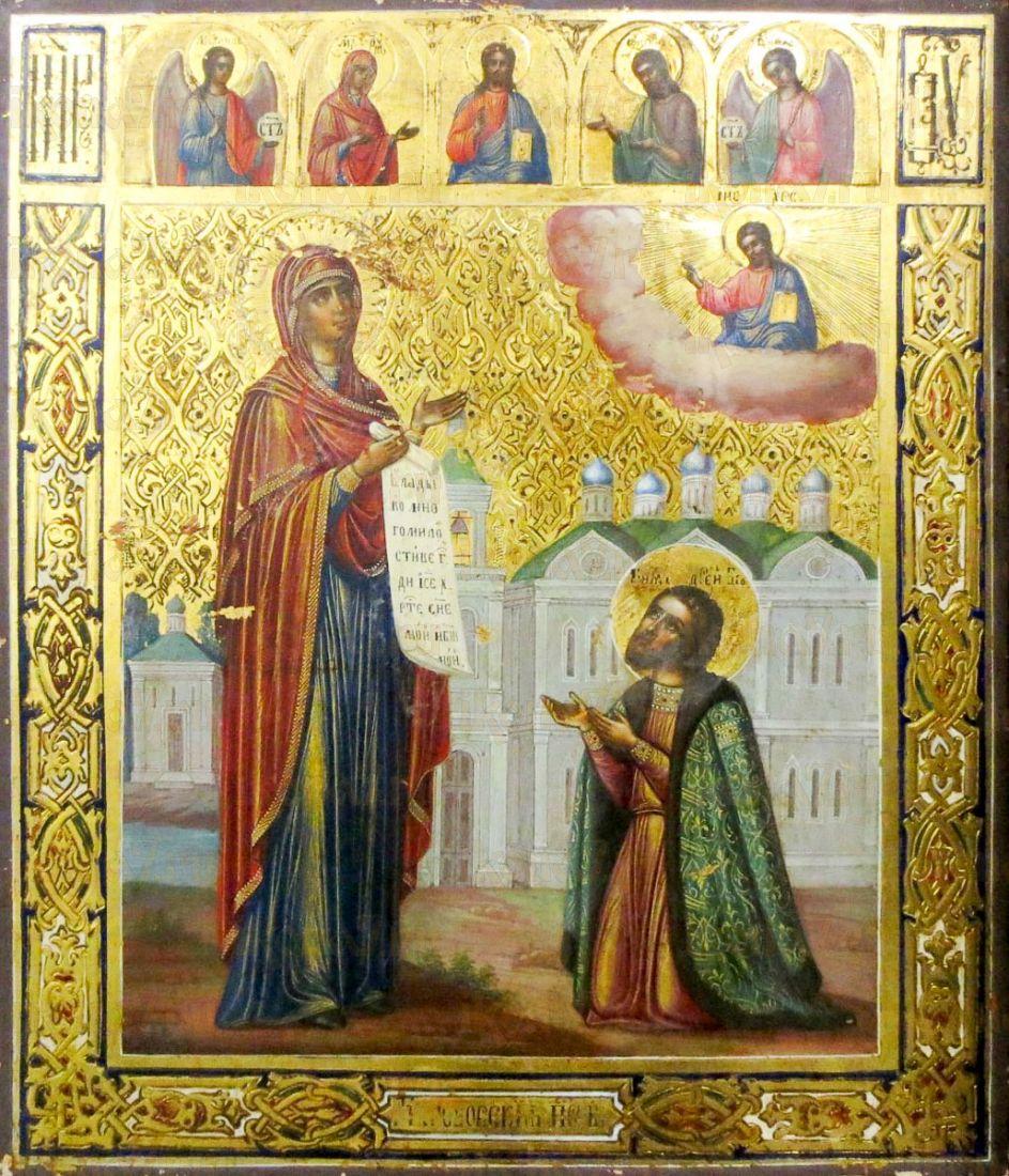 Икона Явление Богородицы Андрею Боголюбскому (копия старинной)