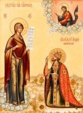 Икона Явление Богородицы Андрею Боголюбскому