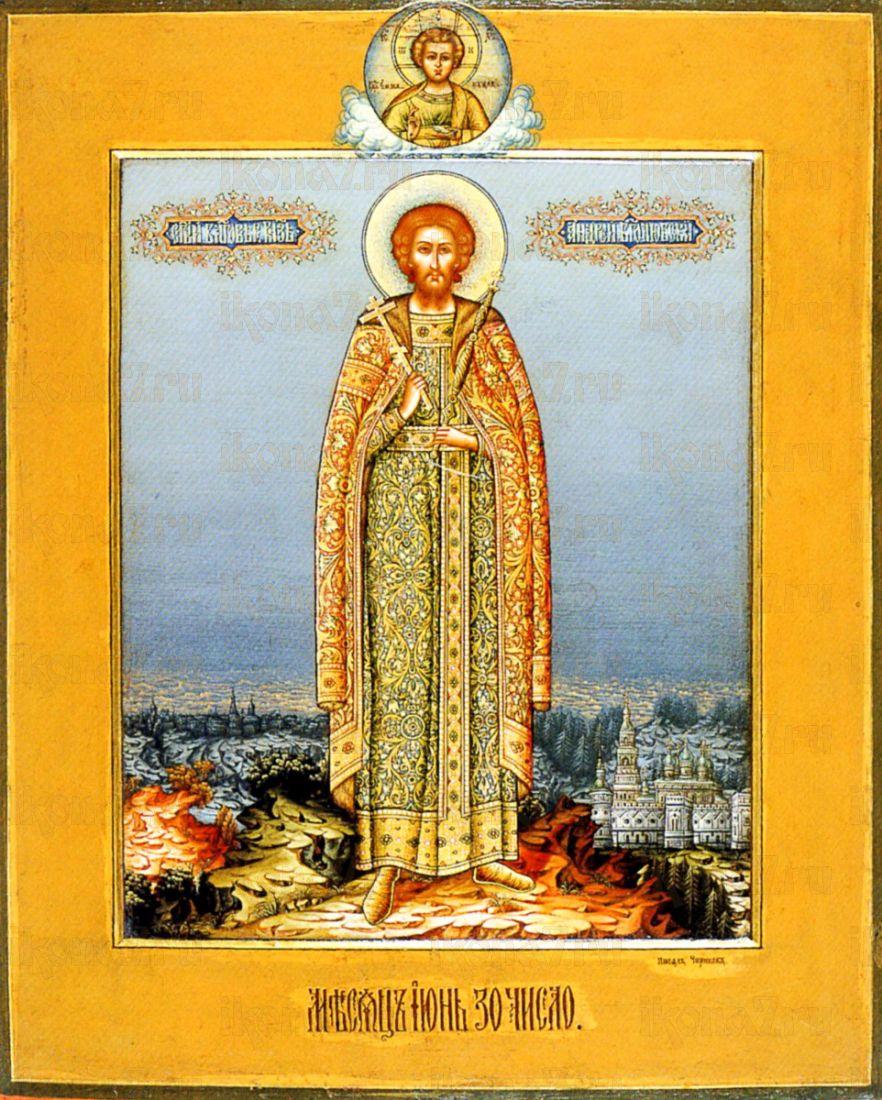 Икона Андрей Боголюбский (копия старинной)