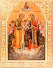Икона Андрей Первозванный и апостол Петр