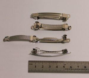 `Заколка основа, металл, длина 6 см, Арт. Р-ФТ0032