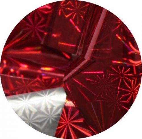 Фольга для литья и кракелюра Royal (25) красный голографическая снежинка