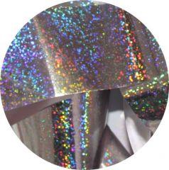 Фольга для литья и кракелюра Roya(9) l серебро голографический туман