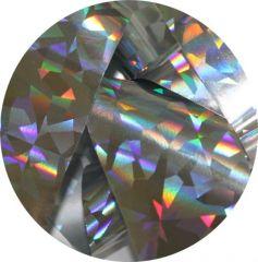 Фольга для литья и кракелюра  Royal (10) серебро голографический ромб