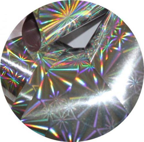 Фольга для литья и кракелюра  Royal (13) серебро голографическая снежинка