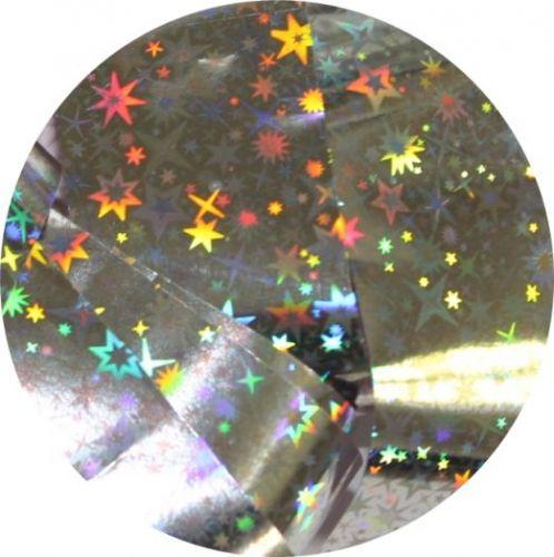 Фольга для литья и кракелюра  Royal (15) серебро голографическая звезда