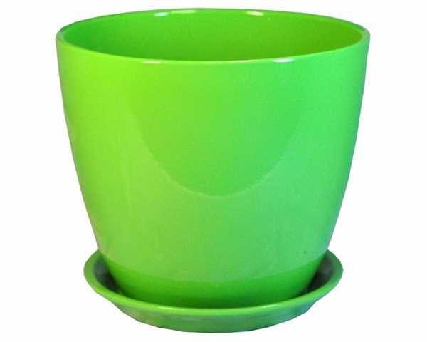 Горшок Бутон Глянец зеленый